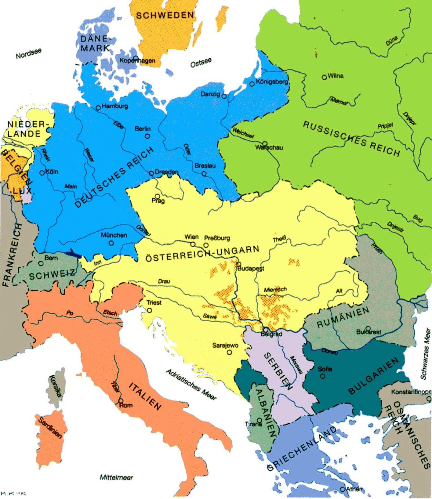 Deutsche Karte Vor Dem 1 Weltkrieg.Karten Donauschwabische Kulturstiftung